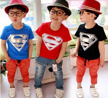 Hot-Sale-Children-Kids-Clothing-Tees-Cool-Superman-Baby-Boys-T-Shirts-For-Summer-Children-Outwear